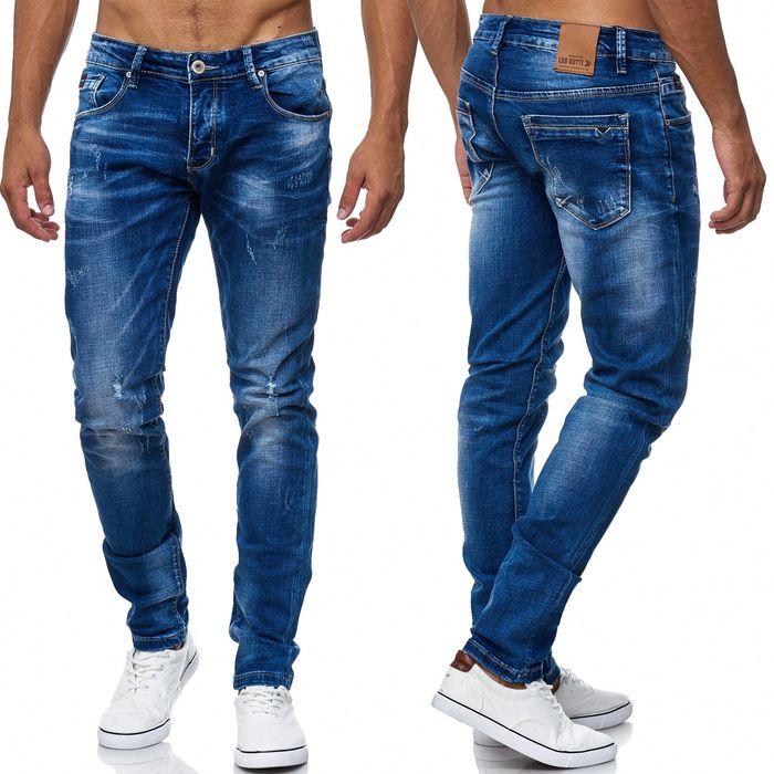 Herren Jeans Destroyed Ripped Denim Hose H2005 – Bild 1