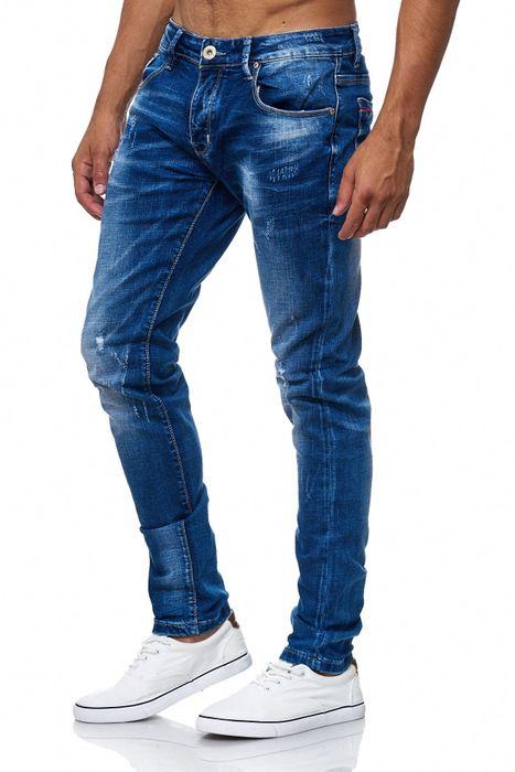 Herren Jeans Destroyed Ripped Denim Hose H2005 – Bild 3