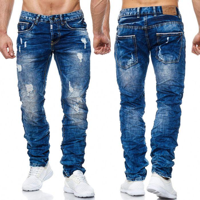 Herren Jeans Ripped Destroyed Hose H2007 – Bild 1