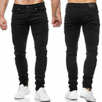 Herren Jeans Ripped Biker Hose Destroyed H2008