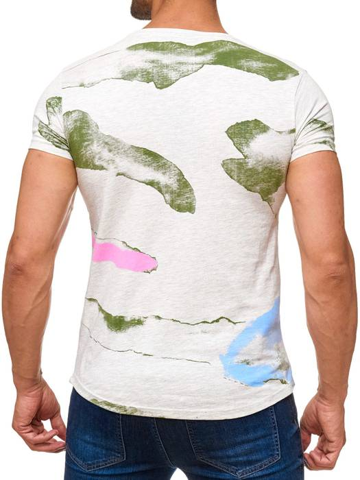 Herren T Shirt AFTER DARK Kurzes Sweatshirt Batik Print Shirt H2018 – Bild 4