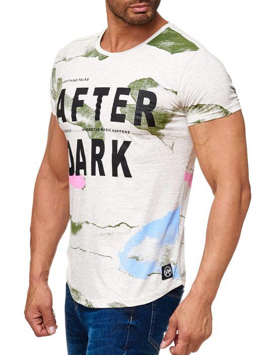 Herren T Shirt AFTER DARK Kurzes Sweatshirt Batik Print Shirt H2018 – Bild 3