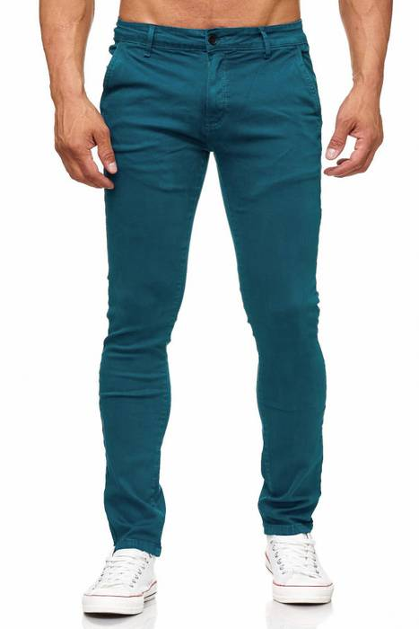 Herren Chino Hose Skinny Fit Stretch Jeans Tapered Leg H2021 – Bild 8