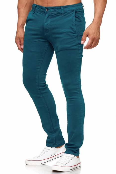 Herren Chino Hose Skinny Fit Stretch Jeans Tapered Leg H2021 – Bild 9