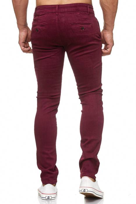 Herren Chino Hose Skinny Fit Stretch Jeans Tapered Leg H2021 – Bild 13