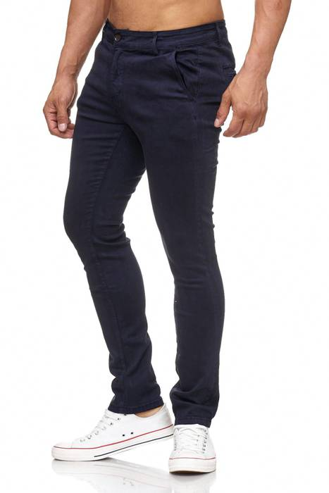 Herren Chino Hose Skinny Fit Stretch Jeans Tapered Leg H2021 – Bild 6
