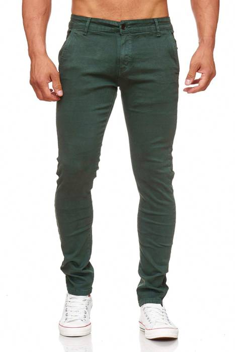 Herren Chino Hose Skinny Fit Stretch Jeans Tapered Leg H2021 – Bild 17
