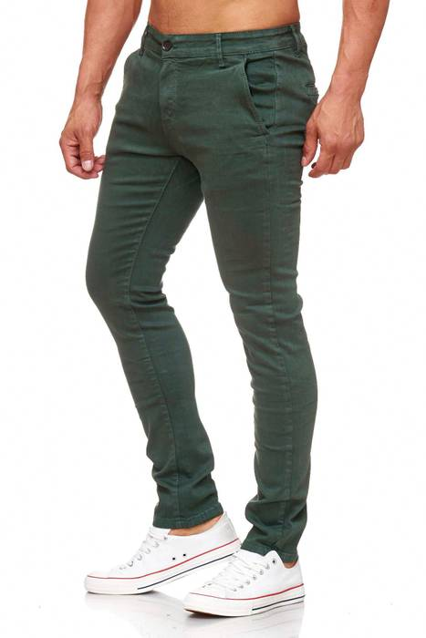 Herren Chino Hose Skinny Fit Stretch Jeans Tapered Leg H2021 – Bild 18