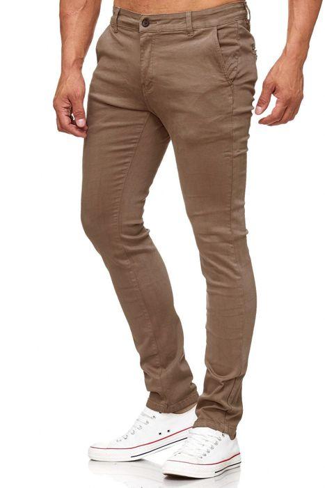 Herren Chino Hose Skinny Fit Stretch Jeans Tapered Leg H2021 – Bild 24
