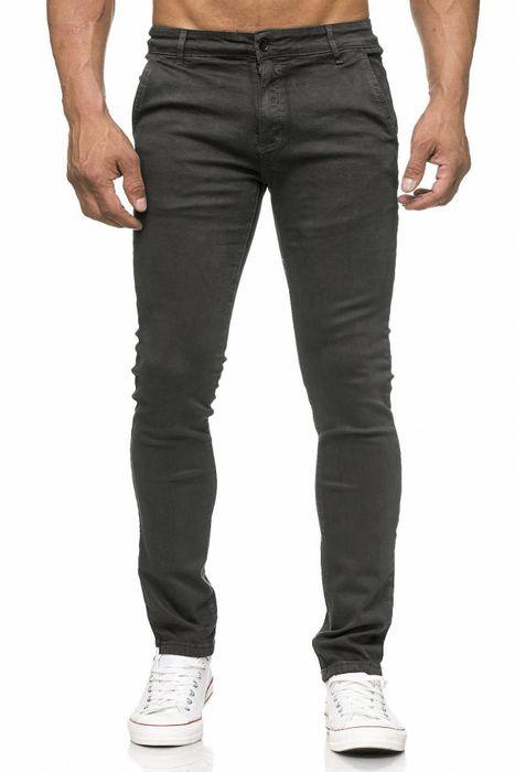 Herren Chino Hose Skinny Fit Stretch Jeans Tapered Leg H2021 – Bild 14