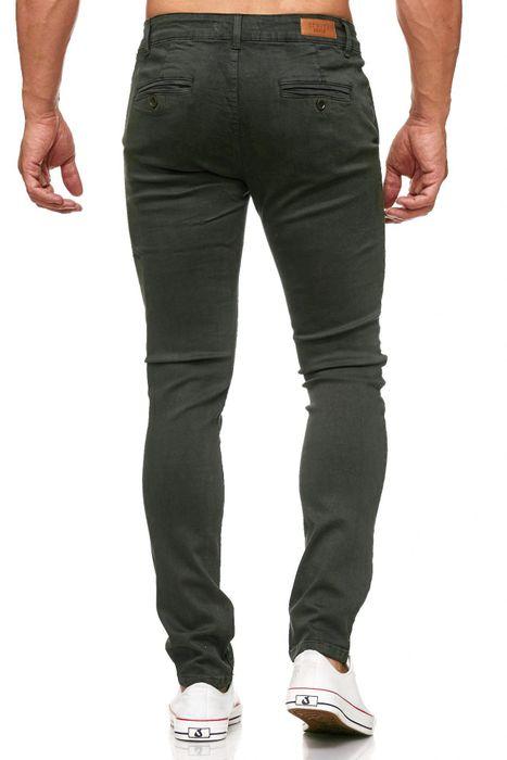 Herren Chino Hose Skinny Fit Stretch Jeans Tapered Leg H2021 – Bild 22