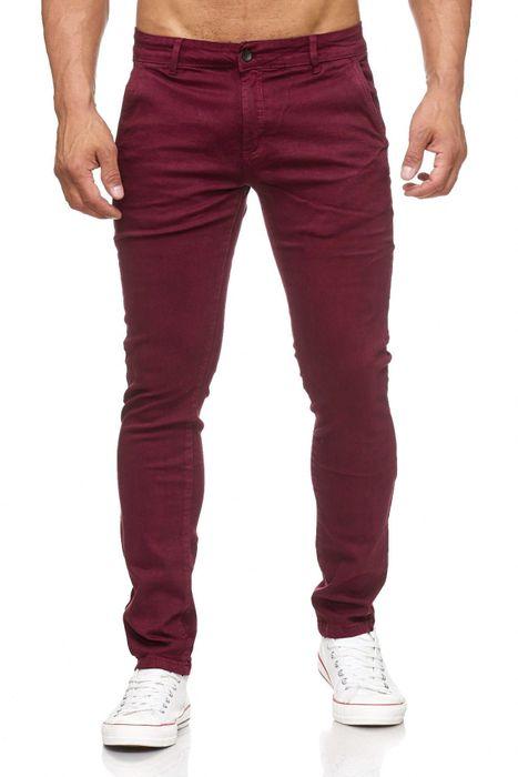 Herren Chino Hose Skinny Fit Stretch Jeans Tapered Leg H2021 – Bild 11