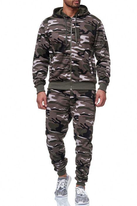 Herren Trainingsanzug Jogginganzug Camouflage Zweiteiler Set H2024 – Bild 8