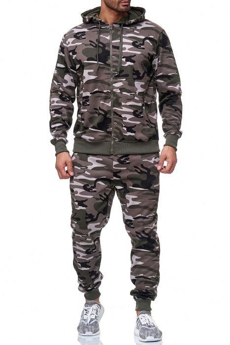 Herren Trainingsanzug Jogginganzug Camouflage Zweiteiler Set H2024 – Bild 16