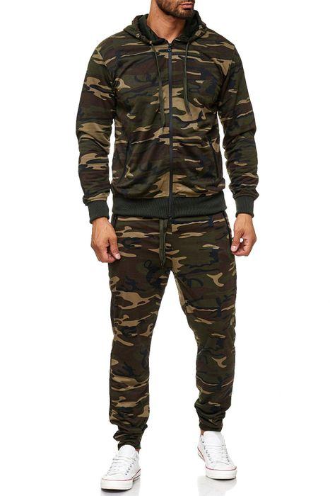Herren Trainingsanzug Jogginganzug Camouflage Zweiteiler Set H2024 – Bild 2