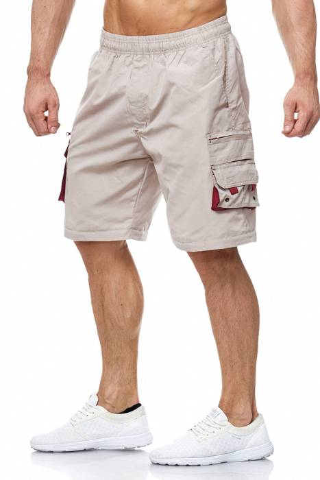 Herren Cargo Hose Variable Beinlänge Bermuda 3 Tragevarianten Shorts H2035 – Bild 5