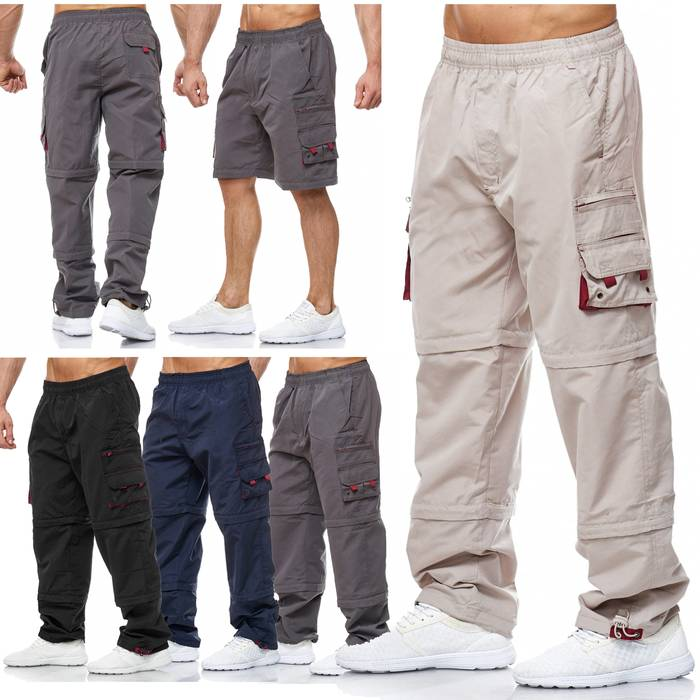 Herren Cargo Hose Variable Beinlänge Bermuda 3 Tragevarianten Shorts H2035 – Bild 1
