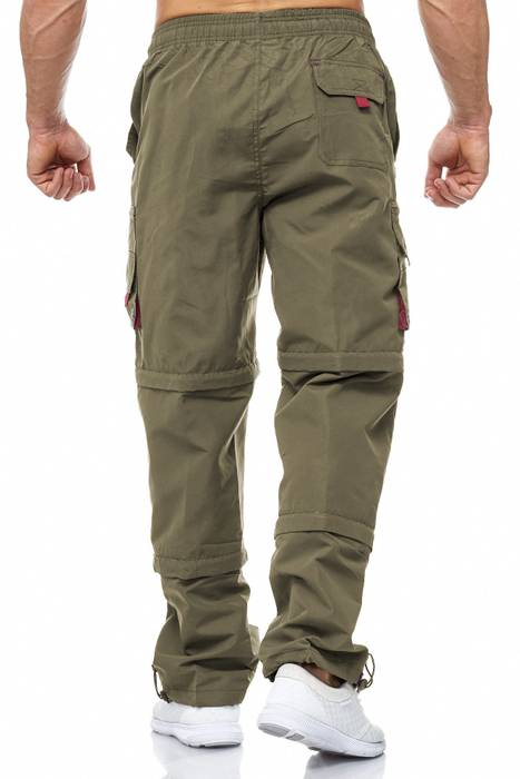 Herren Cargo Hose Variable Beinlänge Bermuda 3 Tragevarianten Shorts H2035 – Bild 10