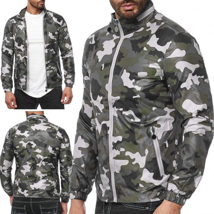 Herren Übergangsjacke Camouflage Windbreaker Leichte Jacke H2037 – Bild 1