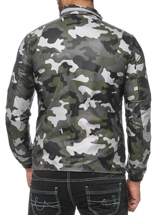 Herren Übergangsjacke Camouflage Windbreaker Leichte Jacke H2037 – Bild 6