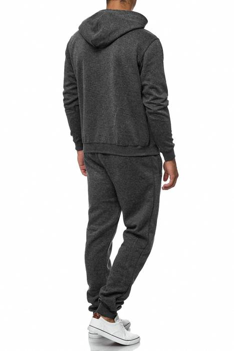 Herren Trainingsanzug Jogginganzug Set Sweat Shirt Pants Sport Streifen H2038 – Bild 4