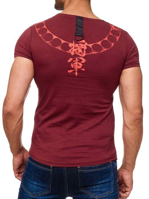 Herren T Shirt Kurzarm BLODY DATE Skull Print Shirt Totenkopf H2040 – Bild 13