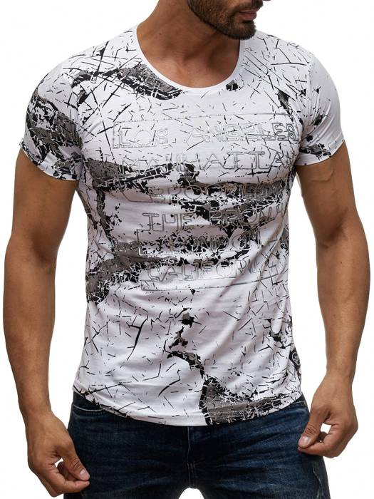 Herren T Shirt LA Manhattan Destroyed Print Kurzarm H2043 – Bild 5