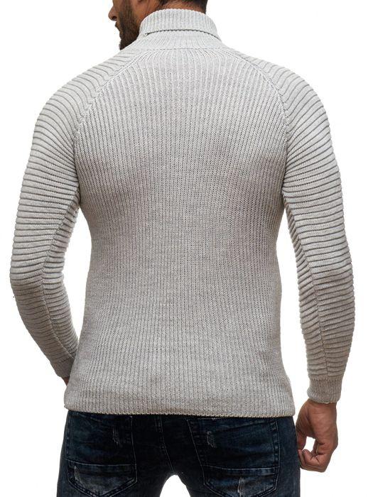 Herren Strick Pullover Basic Langarm Shirt Rollkragen Biker Rolli Longsleeve H2048 – Bild 16