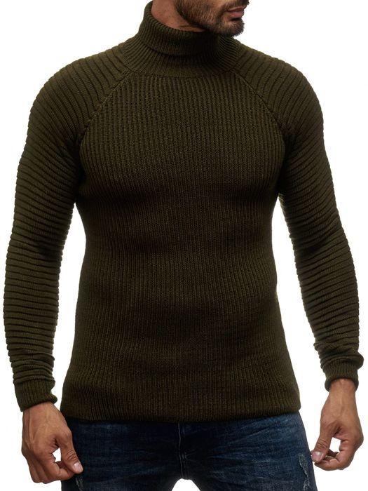Herren Strick Pullover Basic Langarm Shirt Rollkragen Biker Rolli Longsleeve H2048 – Bild 11