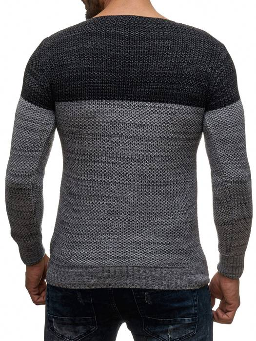 Herren Pullover | Regular Fit | Langarm Strick Pullover | Pulli aus Feinstrick | Herbst Winter | Two Tone Sweat Shirt | H2049 in Markenqualität – Bild 10