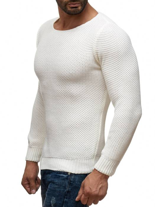Herren Pullover | Regular Fit | Sweat Shirt in Unifarben | Langarm Strick Pullover | Pulli aus Feinstrick | Herbst Winter | H2050 in Markenqualität – Bild 3