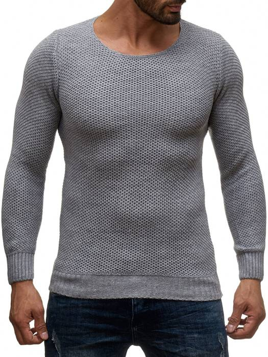 Herren Pullover | Regular Fit | Sweat Shirt in Unifarben | Langarm Strick Pullover | Pulli aus Feinstrick | Herbst Winter | H2050 in Markenqualität – Bild 5