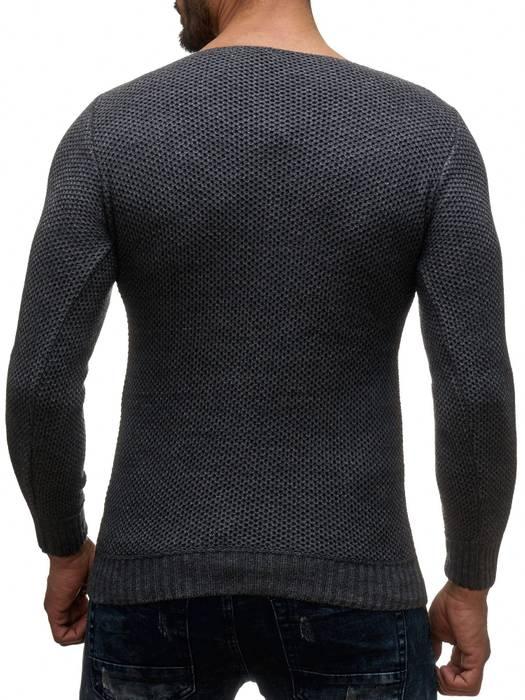 Herren Pullover | Regular Fit | Sweat Shirt in Unifarben | Langarm Strick Pullover | Pulli aus Feinstrick | Herbst Winter | H2050 in Markenqualität – Bild 10