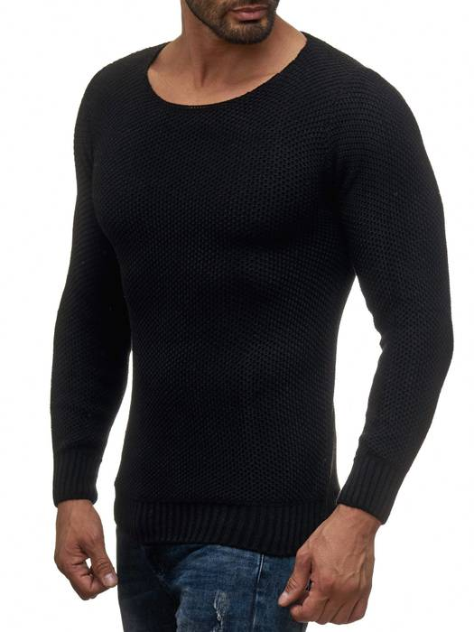 Herren Pullover | Regular Fit | Sweat Shirt in Unifarben | Langarm Strick Pullover | Pulli aus Feinstrick | Herbst Winter | H2050 in Markenqualität – Bild 12