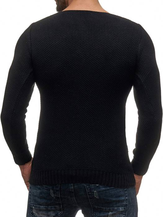 Herren Pullover | Regular Fit | Sweat Shirt in Unifarben | Langarm Strick Pullover | Pulli aus Feinstrick | Herbst Winter | H2050 in Markenqualität – Bild 13