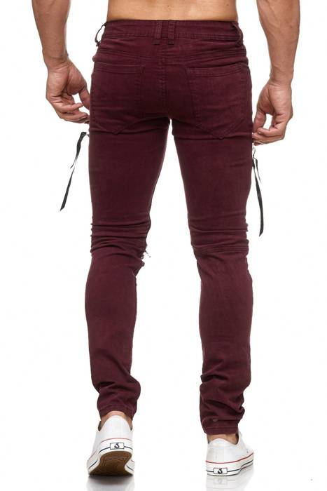Herren Jeans | Skinny Fit | Biker Ripped Jeanshose | Destroyed | Löcher Risse | Acid Washed | Denim Hose | Tapered Leg | H2055 von JAYLVIS – Bild 7