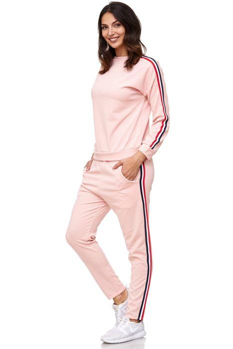 Damen Trainingsanzug Onesize Stretch Jogginganzug Zweiteiler Sport Kombi Fitness D2063 – Bild 3