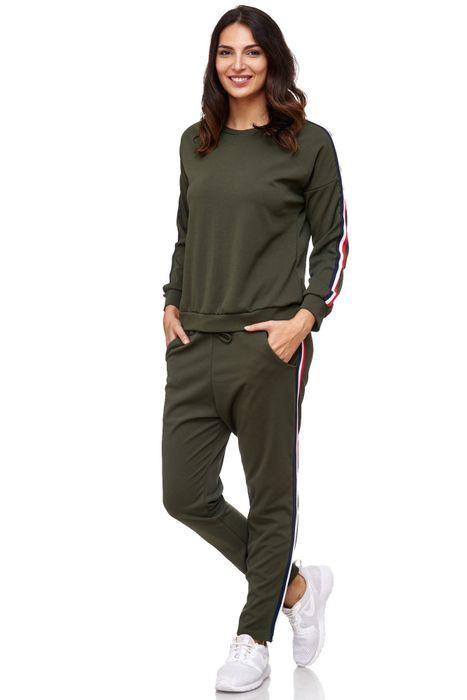 Damen Trainingsanzug Onesize Stretch Jogginganzug Zweiteiler Sport Kombi Fitness D2063 – Bild 5