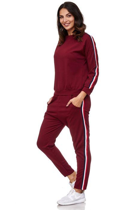 Damen Trainingsanzug Onesize Stretch Jogginganzug Zweiteiler Sport Kombi Fitness D2063 – Bild 9