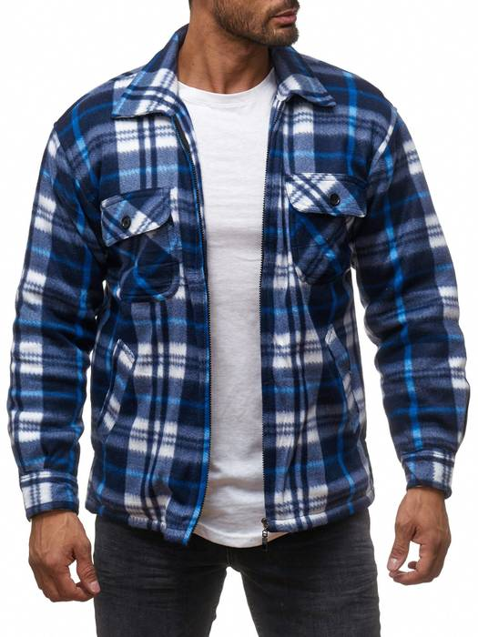 Herren Fleece Jacke Holzfäller Hemd Thermo Flanell Sweat Shirt H2070 – Bild 19