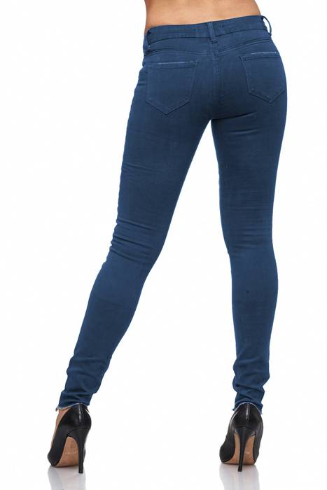 Damen Jeans · Destroyed · Skinny Fit · Biker Stretch Hüfthose mit Riss am Knie · Röhre mit Löchern · Ripped Jeggings · Zerrissene Slim Treggings · Normaler Bund · D2080 in Markenqualität – Bild 16