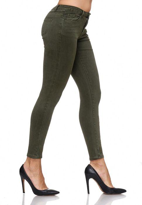 Damen Jeans Blumen Stickerei Stretch Florales Muster Ankle Cut Treggings D2083 – Bild 4