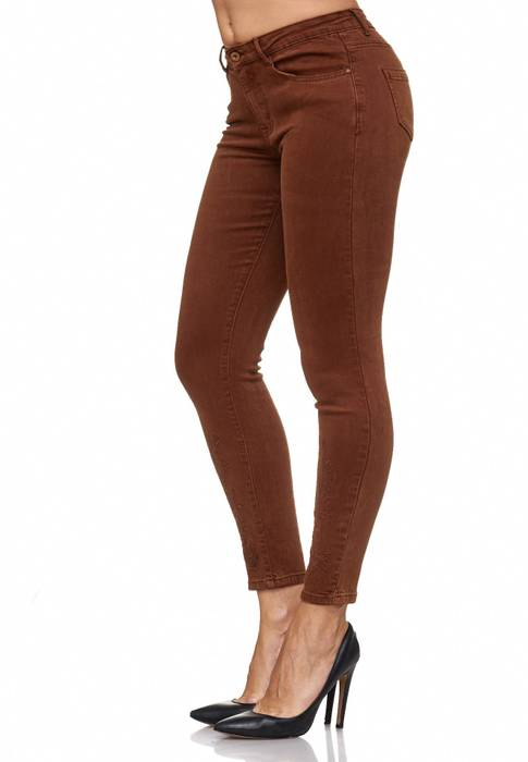 Damen Jeans Blumen Stickerei Stretch Florales Muster Ankle Cut Treggings D2083 – Bild 19