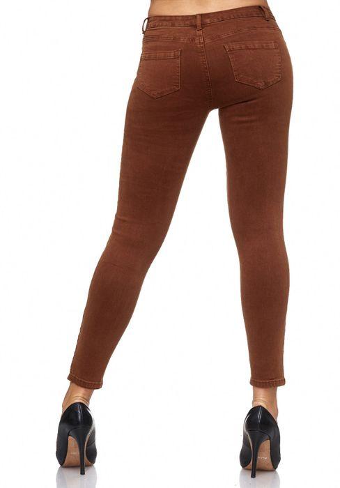 Damen Jeans Blumen Stickerei Stretch Florales Muster Ankle Cut Treggings D2083 – Bild 21