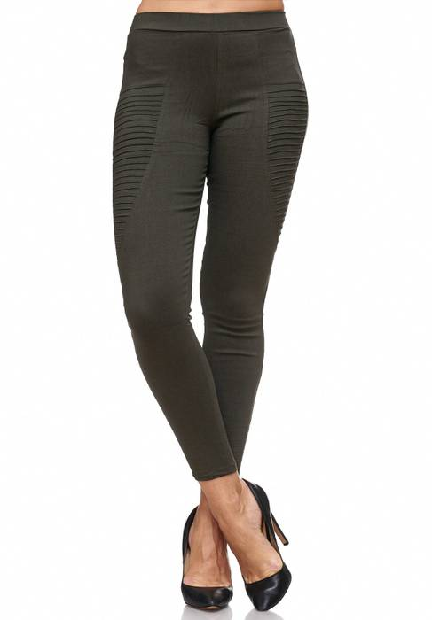 Damen Treggings Biker Jeggings Jeans Hüfthose D2088 – Bild 8