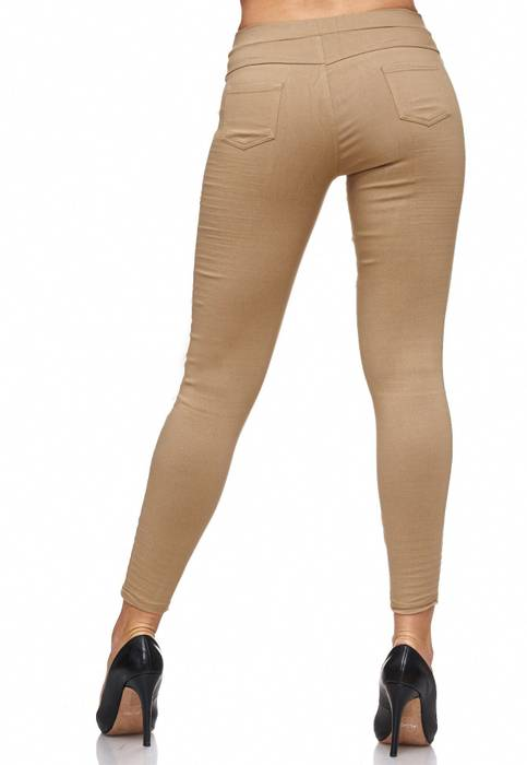 Damen Treggings Biker Jeggings Jeans Hüfthose D2088 – Bild 6