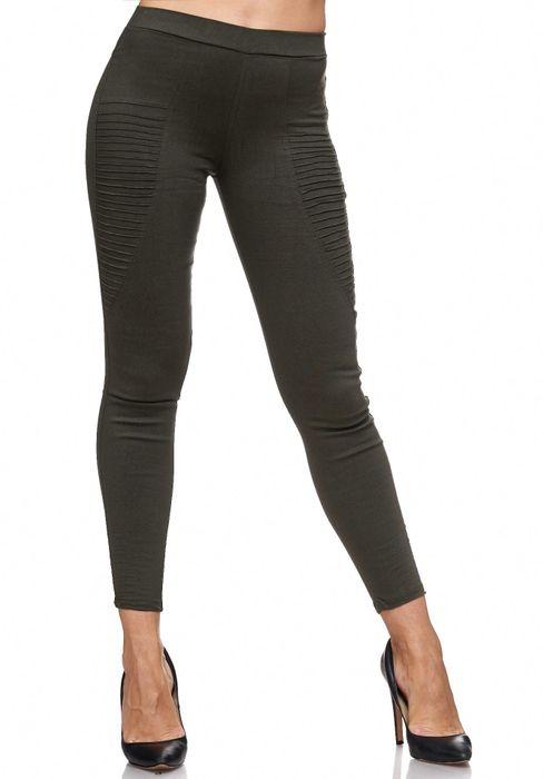 Damen Treggings Biker Jeggings Jeans Hüfthose D2088 – Bild 7