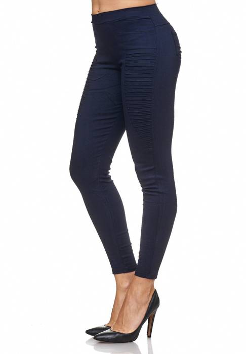 Damen Treggings Biker Jeggings Jeans Hüfthose D2088 – Bild 14