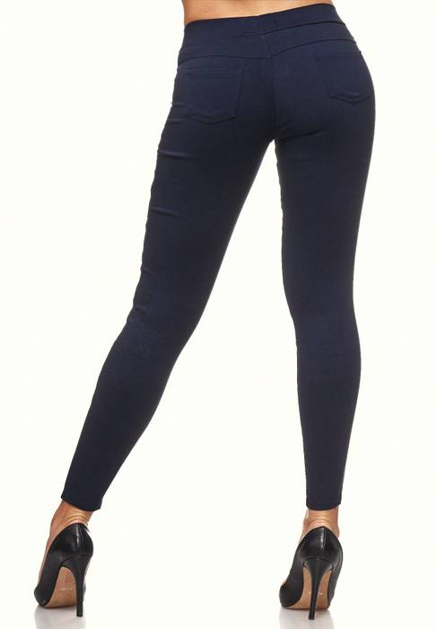 Damen Treggings Destroyed Used Look Stretch Hüfthose Ripped Leggings D2089 – Bild 6