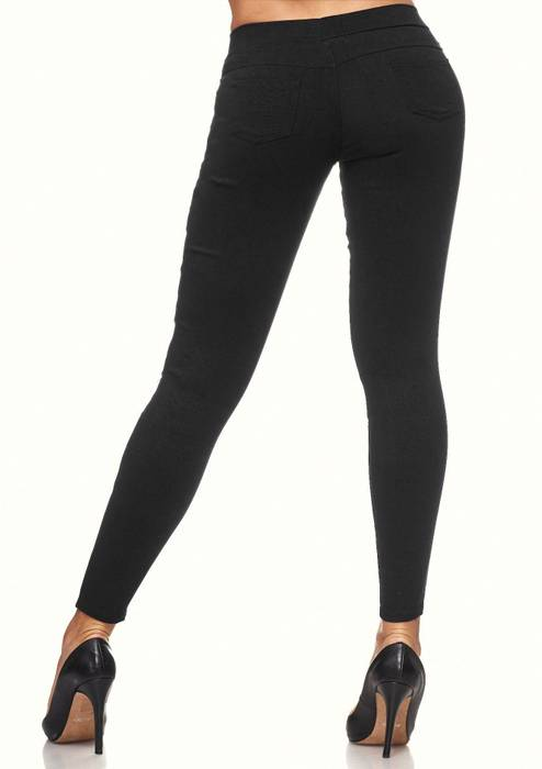 Damen Treggings Destroyed Used Look Stretch Hüfthose Ripped Leggings D2089 – Bild 15